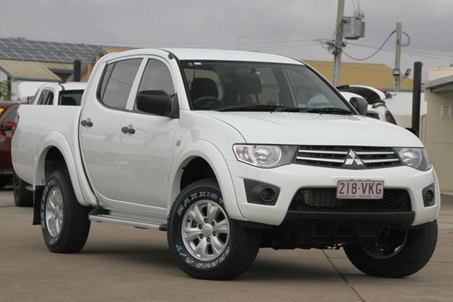 Used Mitsubishi Triton MN MY15 GLX Double Cab, 2014 Mitsubishi Triton MN MY15 GLX Double Cab White 5 Speed Manual Utility