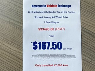 2018 Mitsubishi Outlander ZL MY18.5 Exceed AWD Black 6 Speed Constant Variable Wagon