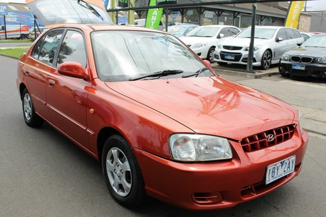 Used Hyundai Accent LC GLS West Footscray, 2000 Hyundai Accent LC GLS Red 4 Speed Automatic Hatchback