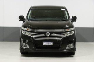 2010 Nissan Elgrand E52 Highway Star Black 5 Speed Automatic Wagon.