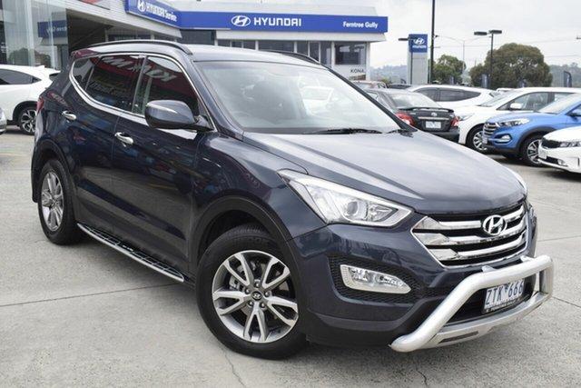 Used Hyundai Santa Fe DM MY14 Elite, 2013 Hyundai Santa Fe DM MY14 Elite Blue 6 Speed Sports Automatic Wagon