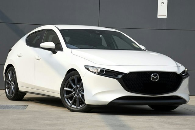 New Mazda 3 BP2H7A G20 SKYACTIV-Drive Evolve, 2019 Mazda 3 BP2H7A G20 SKYACTIV-Drive Evolve White Pearl 6 Speed Sports Automatic Hatchback