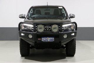 2017 Toyota Hilux GUN126R MY17 SR5 (4x4) Black 6 Speed Automatic Dual Cab Utility.