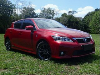 2012 Lexus CT 200H. Hybrid ZWA10R F Sport Red Continuous Variable Hatchback.