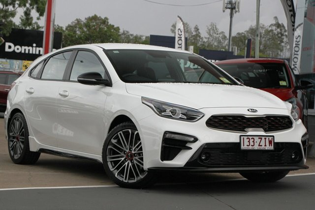 Used Kia Cerato BD MY20 GT DCT, 2019 Kia Cerato BD MY20 GT DCT Clear White 7 Speed Sports Automatic Dual Clutch Hatchback