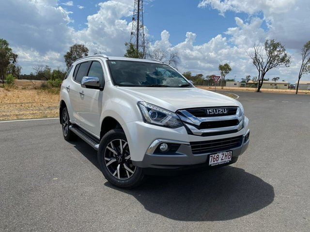 Demo Isuzu MU-X MY19 LS-T Rev-Tronic, 2019 Isuzu MU-X MY19 LS-T Rev-Tronic Silky White 6 Speed Sports Automatic Wagon