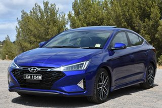 2019 Hyundai Elantra AD.2 MY20 Sport DCT Premium Intense Blue 7 Speed Sports Automatic Dual Clutch