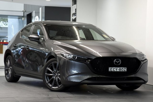 Demo Mazda 3 BP2H7A G20 SKYACTIV-Drive Evolve, 2019 Mazda 3 BP2H7A G20 SKYACTIV-Drive Evolve Machine Grey 6 Speed Sports Automatic Hatchback