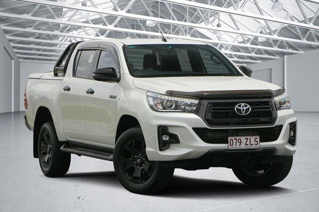 Used Toyota Hilux GUN126R Rogue (4x4), 2018 Toyota Hilux GUN126R Rogue (4x4) Crystal Pearl 6 Speed Automatic Dual Cab Utility