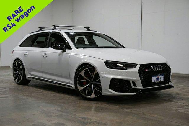 Used Audi RS4 B9 8W MY19 Avant Quattro, 2018 Audi RS4 B9 8W MY19 Avant Quattro Glacier White 8 Speed Sports Automatic Wagon
