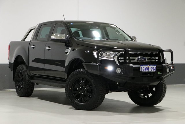 Used Ford Ranger PX MkIII MY19.75 XLT 2.0 (4x4), 2019 Ford Ranger PX MkIII MY19.75 XLT 2.0 (4x4) Black 10 Speed Automatic Double Cab Pickup