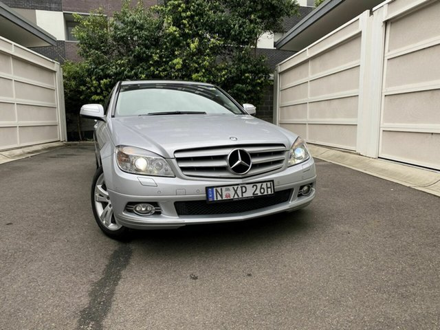 Used Mercedes-Benz C-Class W204 C200 Kompressor Avantgarde, 2008 Mercedes-Benz C-Class W204 C200 Kompressor Avantgarde Silver 5 Speed Sports Automatic Sedan
