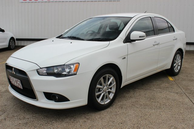 Used Mitsubishi Lancer CJ MY15 ES Sport, 2014 Mitsubishi Lancer CJ MY15 ES Sport White 5 Speed Manual Sedan