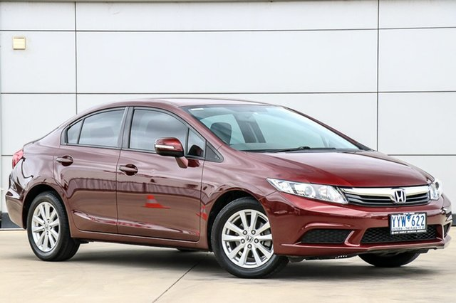 Used Honda Civic 9th Gen VTi-L, 2012 Honda Civic 9th Gen VTi-L Carnelian Red 5 Speed Sports Automatic Sedan