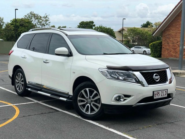 Used Nissan Pathfinder R52 MY15 ST-L X-tronic 2WD, 2015 Nissan Pathfinder R52 MY15 ST-L X-tronic 2WD White 1 Speed Constant Variable Wagon