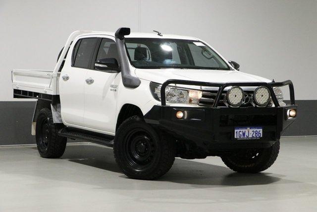 Used Toyota Hilux GUN126R SR (4x4), 2015 Toyota Hilux GUN126R SR (4x4) White 6 Speed Manual Dual Cab Chassis