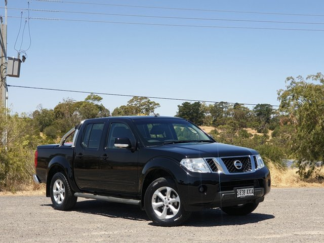 Used Nissan Navara D40 S6 MY12 ST, 2012 Nissan Navara D40 S6 MY12 ST Black 6 Speed Manual Utility