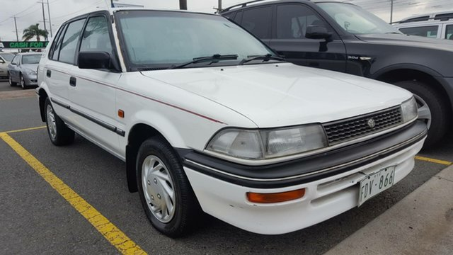 Used Toyota Corolla AE94 CSi Seca, 1993 Toyota Corolla AE94 CSi Seca White 5 Speed Manual Liftback