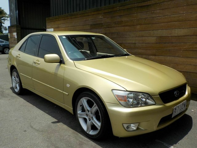 Used Lexus IS GXE10R MY02 IS200 Sports Luxury, 2002 Lexus IS GXE10R MY02 IS200 Sports Luxury Gold 4 Speed Automatic Sedan