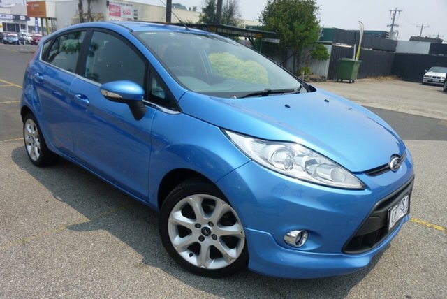 Used Ford Fiesta WS Zetec, 2010 Ford Fiesta WS Zetec Blue 4 Speed Automatic Hatchback