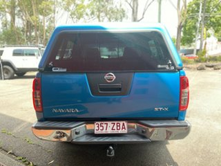 2008 Nissan Navara D40 ST-X Blue 5 Speed Automatic Utility.