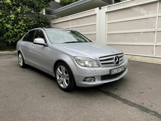 2008 Mercedes-Benz C-Class W204 C200 Kompressor Avantgarde Silver 5 Speed Sports Automatic Sedan.