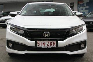 2019 Honda Civic 10th Gen MY19 VTi-LX Platinum White 1 Speed Constant Variable Sedan