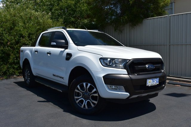 Used Ford Ranger PX MkII Wildtrak Double Cab, 2017 Ford Ranger PX MkII Wildtrak Double Cab White 6 Speed Sports Automatic Utility