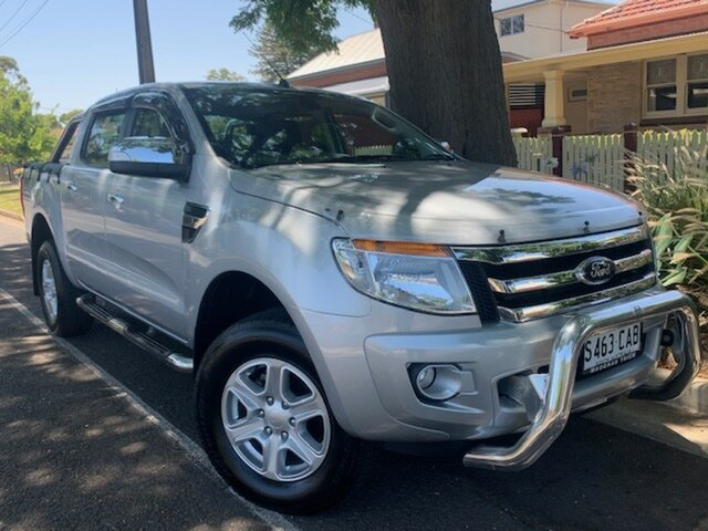 Used Ford Ranger PX XLT Double Cab, 2012 Ford Ranger PX XLT Double Cab Silver 6 Speed Sports Automatic Utility