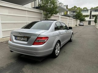 2008 Mercedes-Benz C-Class W204 C200 Kompressor Avantgarde Silver 5 Speed Sports Automatic Sedan