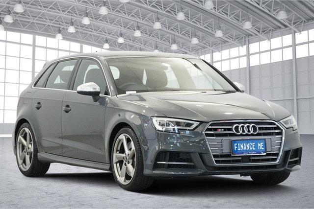 Used Audi S3 8V MY18 Sportback S Tronic Quattro, 2017 Audi S3 8V MY18 Sportback S Tronic Quattro Grey 7 Speed Sports Automatic Dual Clutch Hatchback
