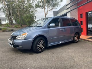 2011 Kia Grand Carnival VQ MY12 SLi Blue 6 Speed Sports Automatic Wagon.