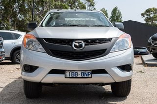 2014 Mazda BT-50 UP0YD1 XT 4x2 Silver 6 Speed Manual Cab Chassis