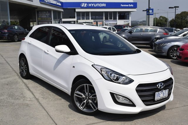 Used Hyundai i30 GD5 Series II MY17 SR, 2016 Hyundai i30 GD5 Series II MY17 SR White 6 Speed Manual Hatchback