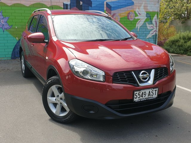 Used Nissan Dualis J107 Series 3 MY12 +2 Hatch X-tronic 2WD ST, 2012 Nissan Dualis J107 Series 3 MY12 +2 Hatch X-tronic 2WD ST Red 6 Speed Constant Variable