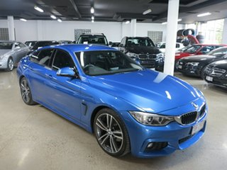 2015 BMW 4 Series F36 420i Gran Coupe M Sport Estoril Blue 8 Speed Sports Automatic Hatchback.