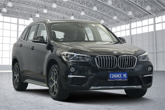 Used BMW X1 F48 sDrive18d Steptronic, 2016 BMW X1 F48 sDrive18d Steptronic Black 8 Speed Sports Automatic Wagon