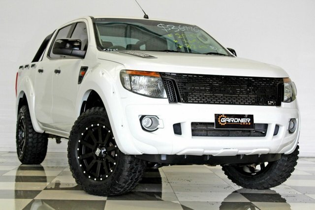 Used Ford Ranger PX XLS 3.2 (4x4), 2015 Ford Ranger PX XLS 3.2 (4x4) White 6 Speed Automatic Dual Cab Utility