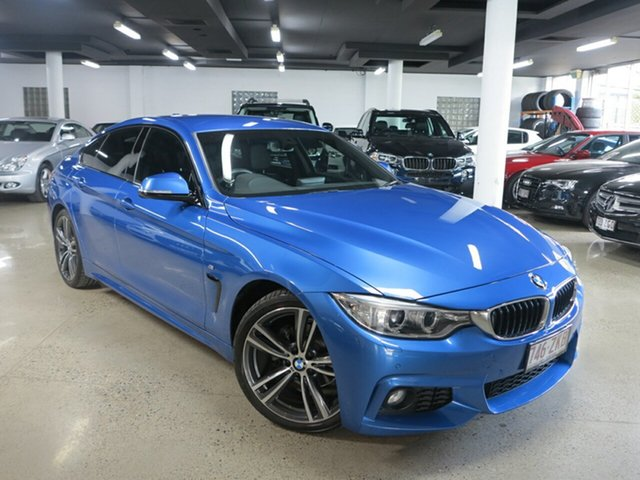 Used BMW 4 Series F36 420i Gran Coupe M Sport, 2015 BMW 4 Series F36 420i Gran Coupe M Sport Estoril Blue 8 Speed Sports Automatic Hatchback