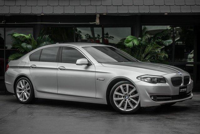 Used BMW 5 Series F10 MY0311 520d Steptronic, 2011 BMW 5 Series F10 MY0311 520d Steptronic Silver 8 Speed Sports Automatic Sedan