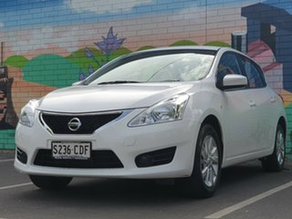 2016 Nissan Pulsar C12 Series 2 ST White 1 Speed Constant Variable Hatchback.