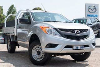 2014 Mazda BT-50 UP0YD1 XT 4x2 Silver 6 Speed Manual Cab Chassis.