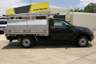 2013 Ford Ranger PX XL 4x2 Black 6 Speed Manual Cab Chassis.