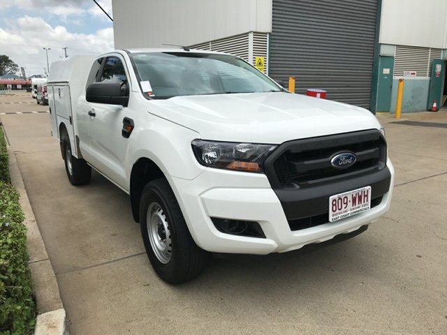 Used Ford Ranger PX MkII XL Super Cab 4x2 Hi-Rider, 2016 Ford Ranger PX MkII XL Super Cab 4x2 Hi-Rider Frozen White 6 speed Automatic Cab Chassis