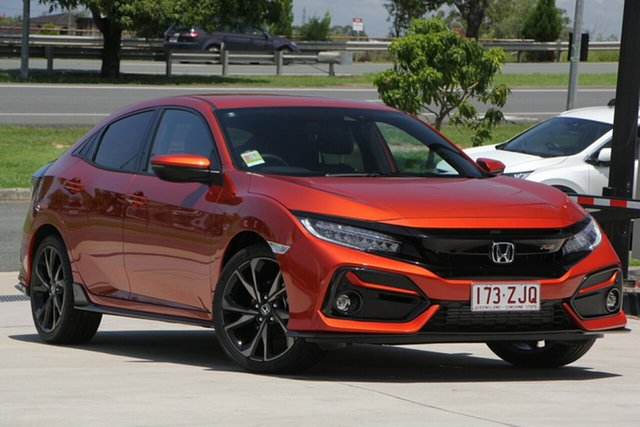 Demo Honda Civic 10th Gen MY20 RS, 2019 Honda Civic 10th Gen MY20 RS Phoenix Orange 1 Speed Constant Variable Hatchback