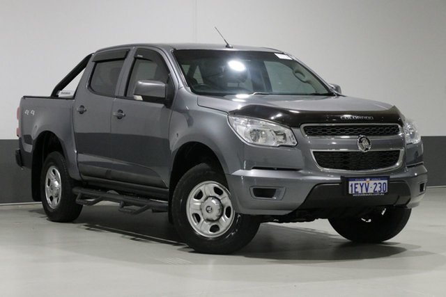 Used Holden Colorado RG MY16 LS (4x4), 2016 Holden Colorado RG MY16 LS (4x4) Grey 6 Speed Manual Cab Chassis