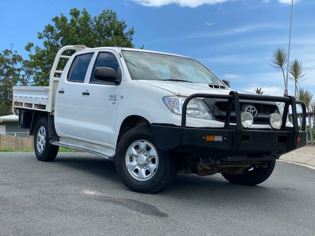 Used Toyota Hilux KUN26R MY10 SR, 2010 Toyota Hilux KUN26R MY10 SR White 5 Speed Manual Cab Chassis