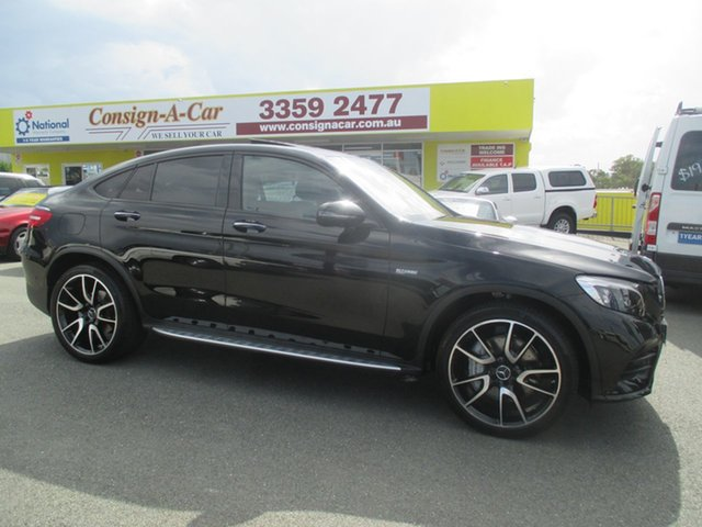 Used Mercedes-Benz GLC-Class C253 GLC43 AMG Coupe 9G-Tronic 4MATIC, 2017 Mercedes-Benz GLC-Class C253 GLC43 AMG Coupe 9G-Tronic 4MATIC Black 9 Speed Sports Automatic