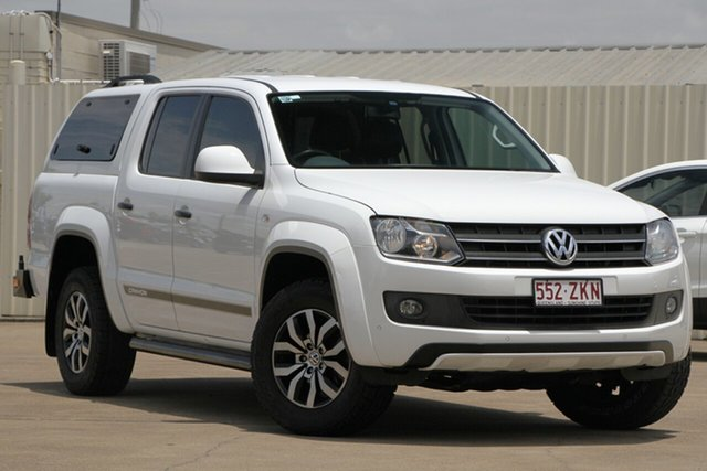 Used Volkswagen Amarok 2H MY14 TDI420 4MOTION Perm Canyon, 2014 Volkswagen Amarok 2H MY14 TDI420 4MOTION Perm Canyon White 8 Speed Automatic Utility