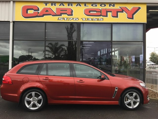 Used Holden Commodore VF II SV6, 2015 Holden Commodore VF II SV6 Red 6 Speed Automatic Sportswagon